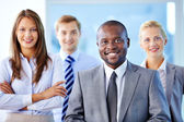 Leader of business team — Stock Photo