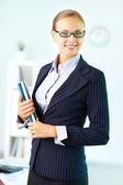 Lovely business lady — Stock Photo