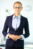 Businesswoman in suit — Stock Photo