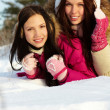 Girls in winter — Stock Photo