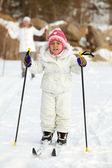 Child skiing — Stock Photo