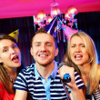 In karaoke bar — Stock Photo