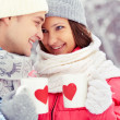 Stock Photo: Winter romance