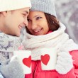 Foto Stock: Winter romance