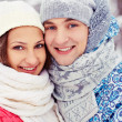 Couple in winterwear — Stock Photo #19223641