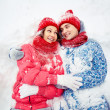 Couple in snow — Stock Photo #19223689