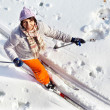 Stock Photo: Womon skis