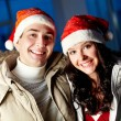 Couple of Santas — Stock Photo