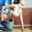 Exercising in sport club — Stock Photo #19229327