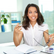 Working in office — Stock Photo