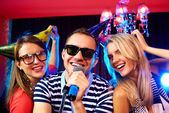 Karaoke party — Stock Photo