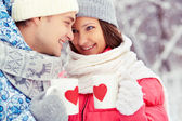 Winter romance — Stock Photo