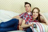 Paar op gemak — Stockfoto