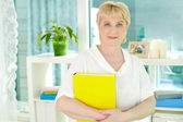 Female at home — Stock Photo