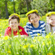 Children on lawn — Stock Photo