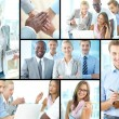 Successful young businesspeople — Stock Photo