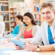Stockfoto: Student in library