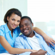 Ethnic couple — Stock Photo