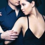 Couple in black — Stock Photo #21189503