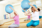 Exercise with balls — Stock Photo