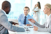 Boss speaking — Stock Photo