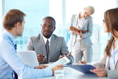 Partners communicating — Stock Photo