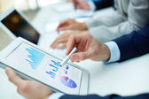 Analyzing results — Stock Photo