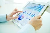 Digital-statistik — Stockfoto