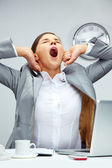 Big yawn — Stock Photo