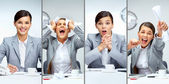 Femme d'affaires au travail — Photo