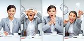 Zakenvrouw op het werk — Stockfoto