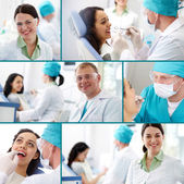Dental practice — Stock Photo