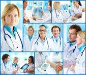 врачи на работе — Стоковое фото