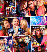 In karaoke bar — Stock Photo