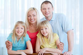 Cheerful family — Stock Photo