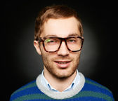 Guy in eyeglasses — Stock Photo