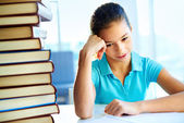Too much to learn — Stock Photo
