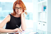Lady in office — Stock Photo