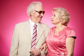 Senior affection — Stock Photo