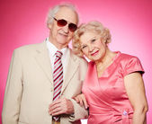 Portrait of senior couple — Stock Photo