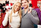 Couple of shopaholics — Foto de Stock