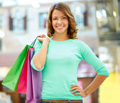Weekend shopper — Stock Photo