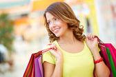 Lady shopper — Stock Photo