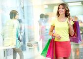 Mall admirer — Stock Photo