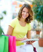Touchpad shopping — Stock Photo