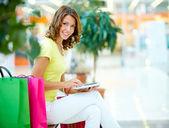 Hi-tech shopping — Stock Photo