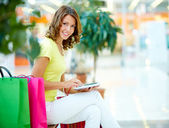 Hi-tech shopping — Stock Photo
