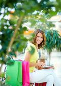 Shopping communication — Stock Photo