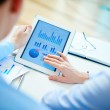 Business partners with  touchpad — Stock Photo #24192153