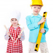 Little professionals — Stock Photo